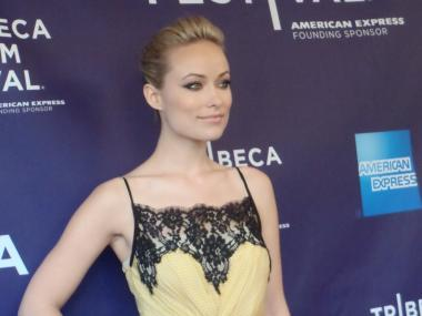Olivia Wilde, wearing Prada, at the premiere of