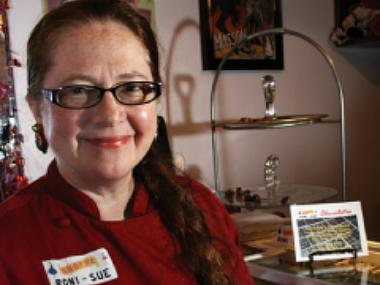 Rhonda Kave, owner of Roni-Sue's Chocolates.