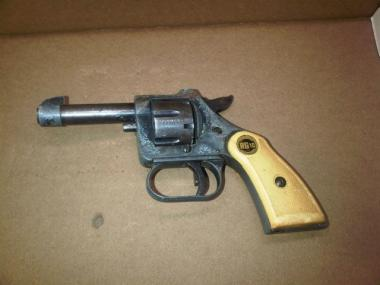 Police recovered a .22-caliber gun allegedly used by the suspect.