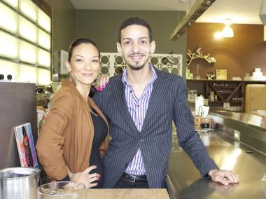 Rose and Manny Pena, 30, owners of The Astor Row Cafe.