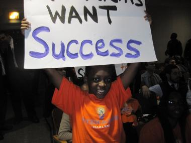 Stephon Crown, 9, attends the Success Academy in Harlem. The Success Academy charter school network plans to open six new schools in 2013-14, with a request to co-locate a new campus in Brooklyn up for vote Wednesday.