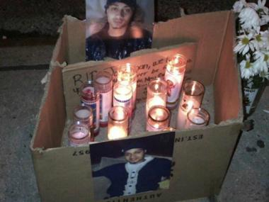 A memorial for Jonathan Delarosa, 24, who was murdered in the streets of Washington Heights.