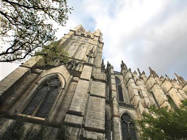 The Cathedral of St. John the Divine on Amsterdam Avenue and 113th St. Morningside Heights, NYC.