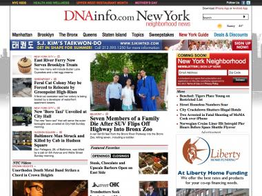 DNAinfo.com New York launched Monday, expanding its coverage to the city's five boroughs.