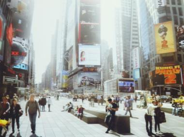 A rendering of the redesigned Times Square, set to be completed in 2015.