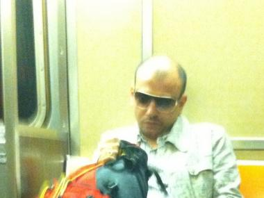 Photo of a suspect on the train taken by his victim