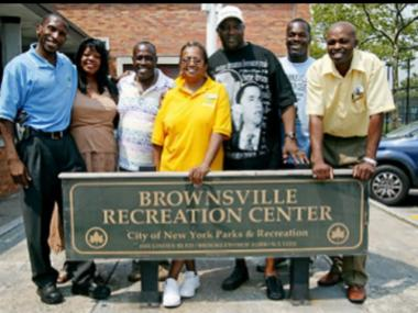 "Greg ""Jocko"" Jackson, third from right with hat, director of the Brownsville Rec Center died on May 1, 2012."