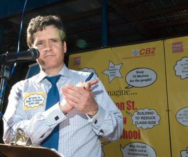 State Sen. Tom Duane said that Brad Hoylman, pictured at a 2009 rally, would be a