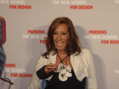 Donna Karan at the Parsons 2012 Fashion Benefit, at Pier 60, Tuesday, May 1, 2012.
