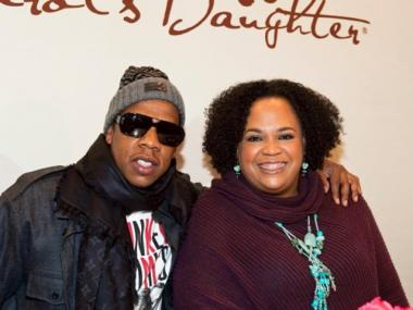 Carol's Daughter founder Lisa Price with Jay-Z in 2009.