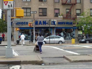 A crash between a livery cab and a Chrysler sedan at this intersection sent two adults and a child to St. Barnabas Hospital in The Bronx on Thursday, May 3, 2012.