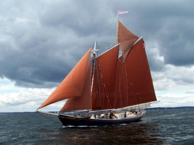 The Roseway, a 1920s fishing schooner, will dock at Pier 25 in May 2012.