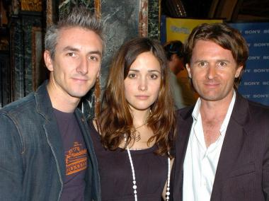 Director Greg McLean, actress Rose Byrne and Tropfest  founder John Polson. Byrne was recently named one of the judges for the 20th annual TropFest in Bryant Park on Saturday, June 23, 2012.
