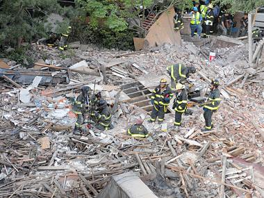 A building collapsed at 110 W. 123rd St. May 4, 2012.