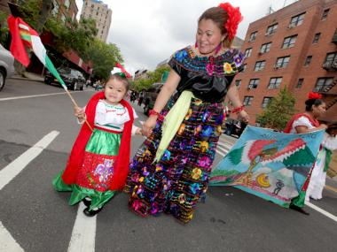 A mother and daughter enjoy one of the city's many Cinco de Mayo celebrations in 2012.