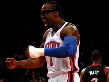 New York Knicks All-Star Amar'e Stoudemire reportedly called a fan a gay slur on Twitter.