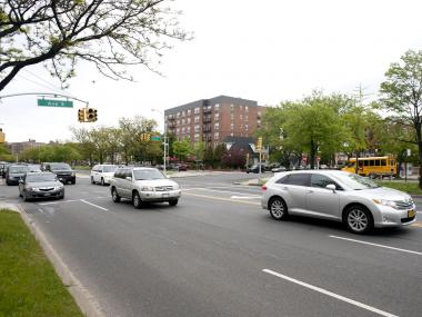 The crash occurred at Ocean Parkway and Avenue X in Sheepshead Bay.