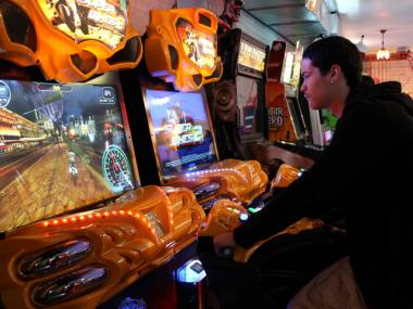 Matthew Bermudez said he likes the variety of games at the new Chinatown Fair arcade.