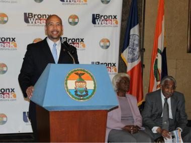 Bronx Borough President Ruben Diaz Jr. announced the start of Bronx Week 2012 at a press event on May 7, 2012.