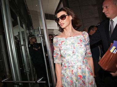 Linda Evangelista at Manhattan Family Court on May 7, 2012.