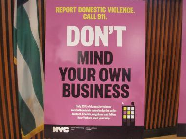 The new campaigns tells New Yorkers not to mind their own business if they suspect abuse.