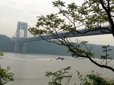 Police recovered a man's body from the Hudson River near the George Washington Bridge on Nov. 23, 2013.