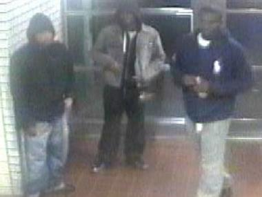 Police are searching for four men wanted for breaking into an apartment on East 94th Street and First Avenue. Shown here are three of the four suspects.