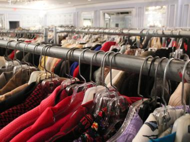 Between 8,000 and 10,000 pieces of clothing and accessories are on sale at POSH.