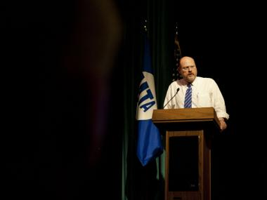 MTA CEO Joseph Lhoto delivers the opening address of the 1st annual National Transit Workers Assault Conference. May 10, 2012.
