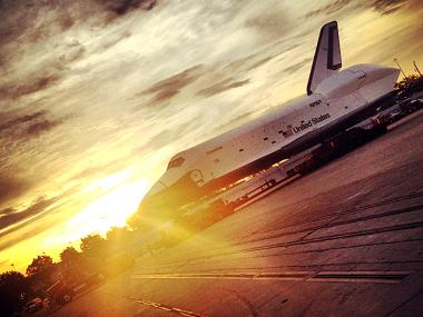 The Space Shuttle Enterprise after being separated from a NASA Shuttle Carrier Aircraft at JFK Airport on May 13th, 2012.