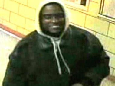 Police are searching for a suspect who allegedly robbed a 22-year-old man inside a senior housing complex on East 117th Street April 26, 2012.