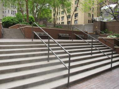 A park on East 47th Street between Second and Third avenues is a particular favorite among skateboarders, for its stairs and rails.