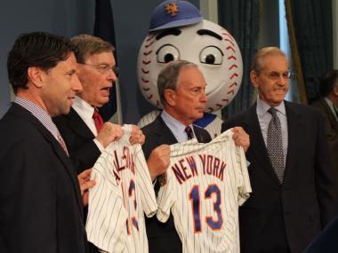 MLB Commissioner Bud Selig, Mayor Bloomberg and Mets Owner Fred Wilpon announced Wednesday that the Mets will host the 2013 All-Star game.