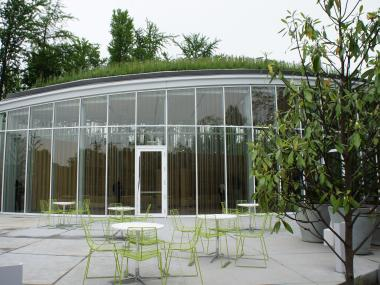 The Brooklyn Botanic Garden's new 20,000 square foot visitor center during its grand opening on Wednesday, May 16, 2012.