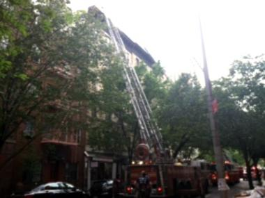 A fire broke out on the sixth floor of an apartment building on East 66th Street between First and Second avenues on Wednesday, May 16, 2012.