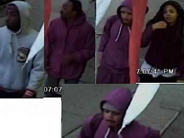 Police suspect these four individuals of robbing money from a man in the Bronx on April 23, 2012.