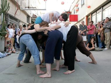 Simone Forti's experimental dance 'Huddle' will be performed on the High Line Thursday, May 24, 2012.