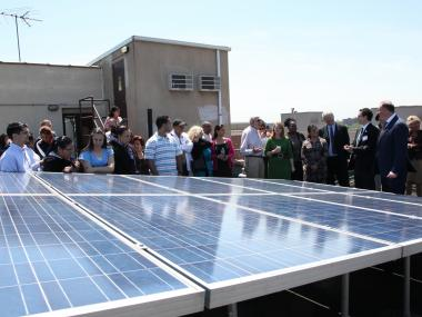 Washington Heights got a little greener as nonprofit NMIC unveiled its new solar panel system.