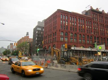 MTA construction scheduled to end in June 2012 has snarled traffic on East Houston Street in NoHo and SoHo.