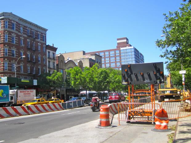 The huge project to recreate East Houston Street from the Bowery to FDR Drive will have contractors working overnight in late March 2013.