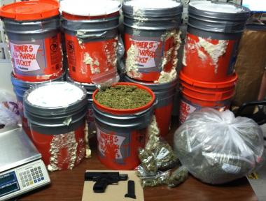 125 pounds of marijuana was found at a Brooklyn address on May 18, 2012.