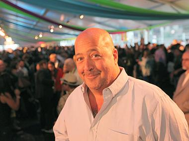 Celebrity chef Andrew Zimmern attends the Columbus Avenue New Taste of the Upper West Side event on May 18th, 2012.