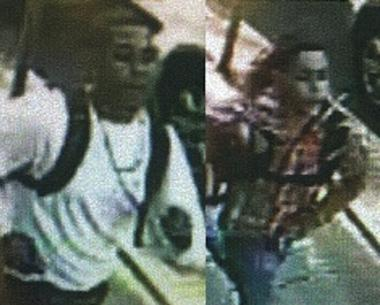 Two suspects police say were involved in a Queens robbery on May 11, 2012.
