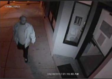 The suspect police say was involved in the burglary of a Staten Island ice cream shop, April 28, 2012.