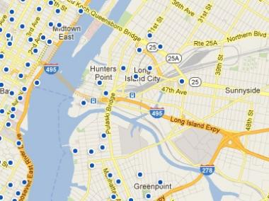 10 bike share are locations proposed for Long Island City