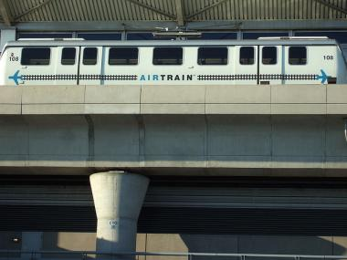 A portion of the AirTrain to JFK airport was closed because of a power outage Mon., May 21, 2012.