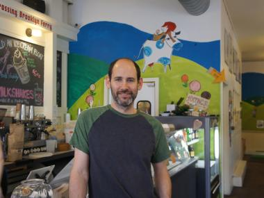 Brian Smith, owner of Ample Hills Creamery, celebrates one year of booming business.