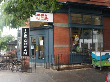 Ample Hills Creamery celebrates its one-year anniversary on Vanderbilt Avenue.