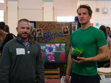 Sean-Michael Fleming (left) and Travis Fench of the Bushwick Farmers' Market at the Brooklyn Food Conference last month.