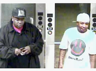 Two suspects police say were involved in an assault Sunday, May 20, 2012 on an E train near Union Turnpike.